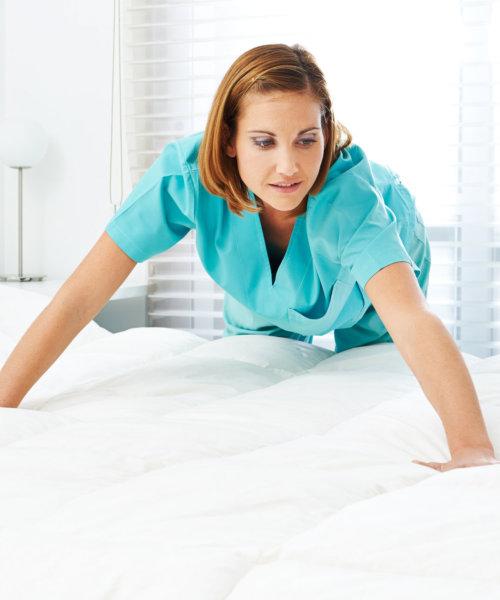 caregiver doing housekeeping