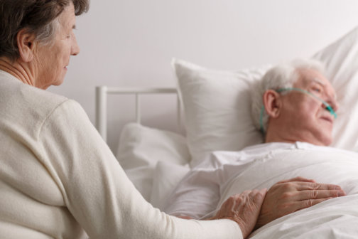 senior patient and his wife
