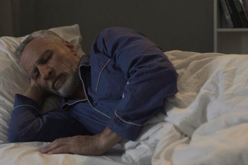 senior patient sleeping